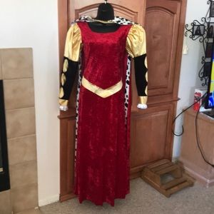 Queen Dress, Cape and Crown Hat